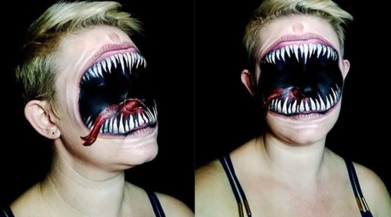 Невероятный фейс арт к Хеллоуину
