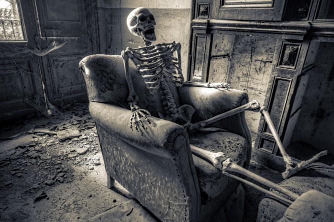Skeleton in Armchair
