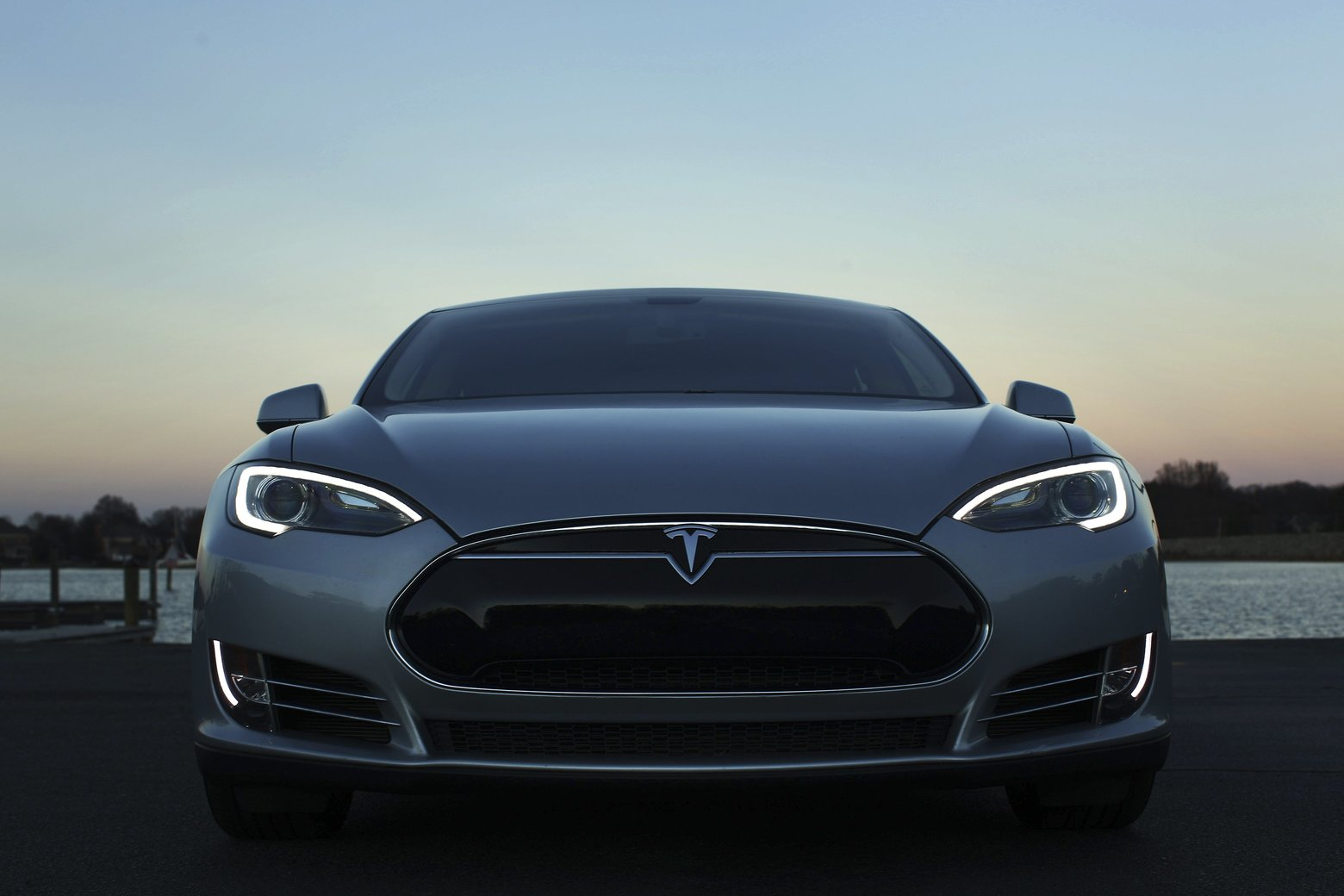 Leilani Muenter's Tesla S, which the professional race car driver, environmental advocate and vegan was able to purchase with cloth seats instead of the standard leather ones, in Huntersville, N.C., Jan. 7, 2016. Tesla, which has introduced synthetic leather as an option on its new Model X sport utility vehicle, is the latest automaker to join the industry's push to project a more environmentally responsible image. (Travis Dove for The New York Times)