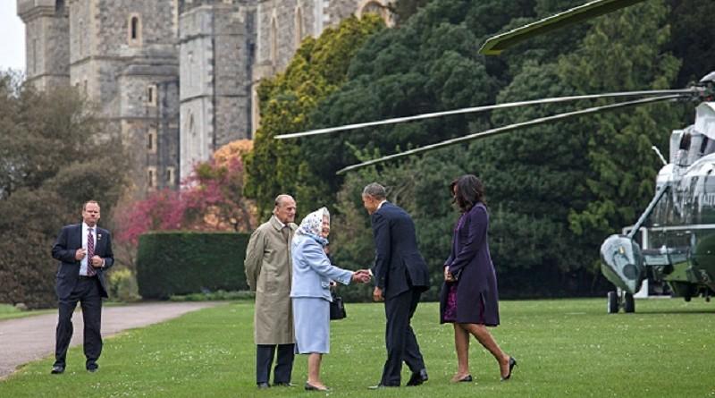 Обама, Королева Елизавета II