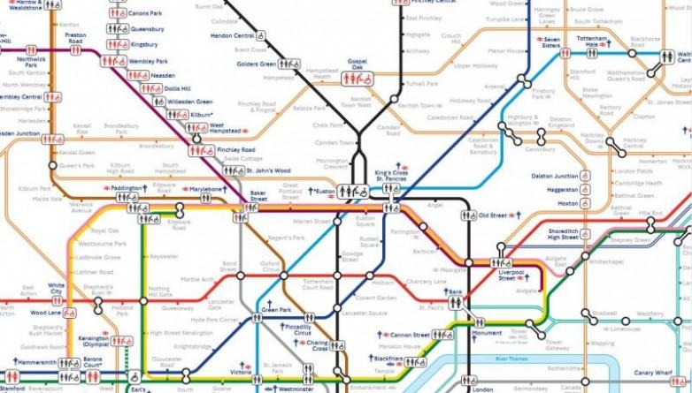 Общество: Вышла новая карта метро, на которой обозначены все станции с туалетами