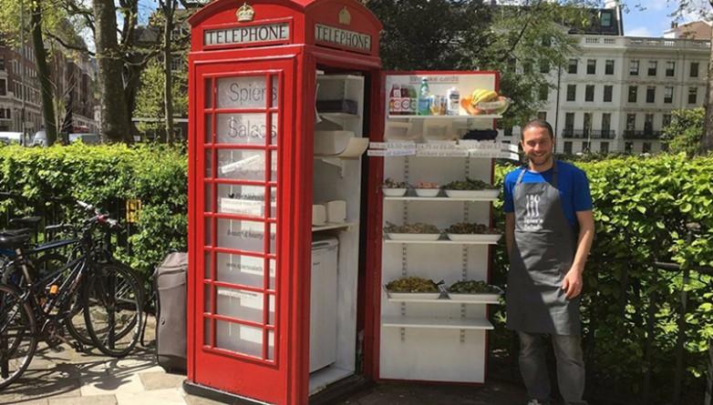 Досуг: Салат-бар в телефонной будке