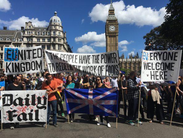 протестующие против выхода из ЕС