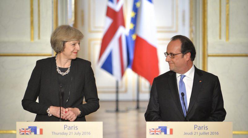 Тереза Мэй и Франсуа Олланд