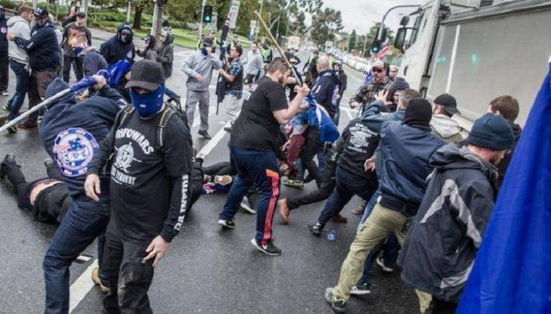 антиисламский протест в Мельбурне