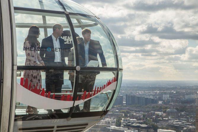 королевская чета на London Eye