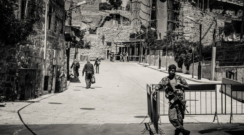 Soldier in Hebron