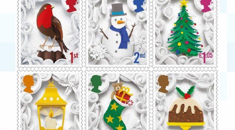 рождественские марки