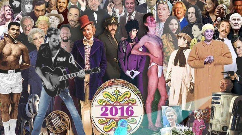 2016 passed celebrities