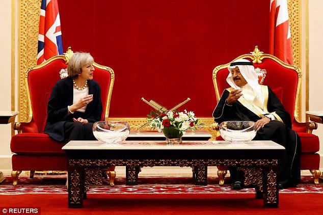 Theresa May in Bahrain