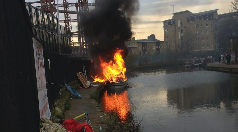 fire in Hackney