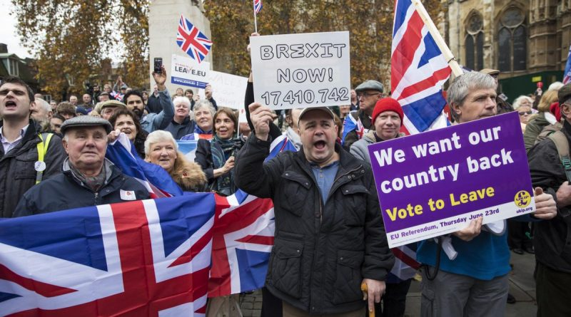 pro-brexit protest