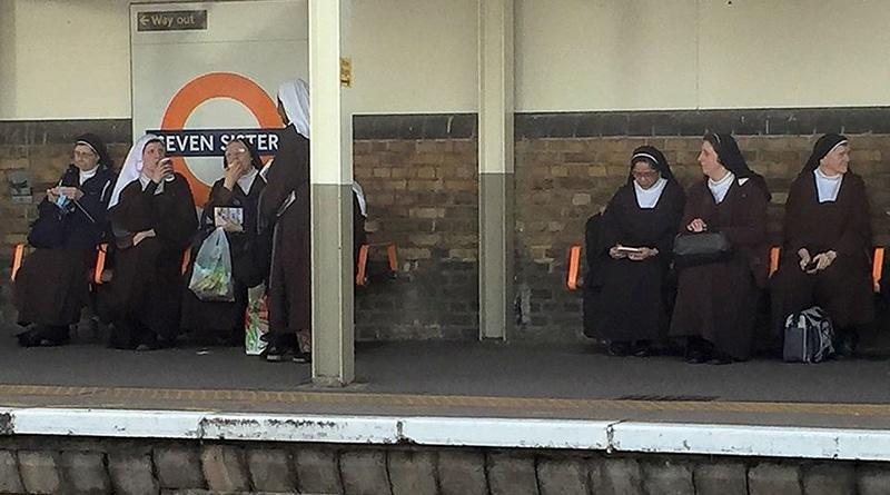 Общество: 7 монахинь на станции Seven Sisters station
