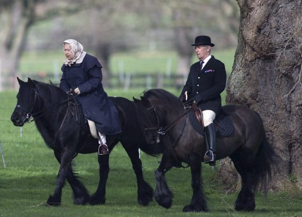 Знаменитости: Королева Британии прокатилась на пони за месяц до своего 91-летия
