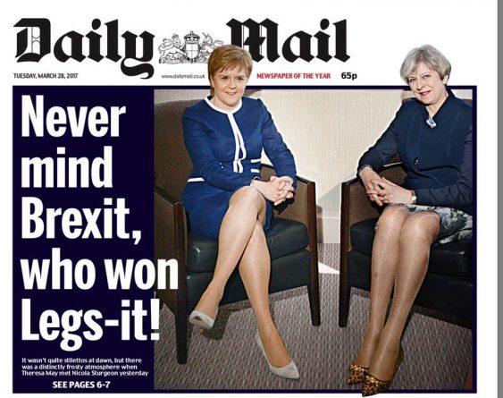 Общество: Шутка про ноги министров: Daily Mail обвиняют в сексизме