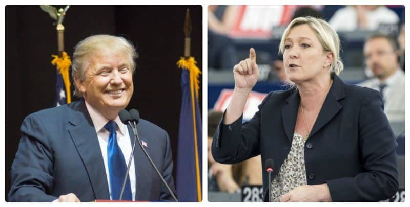 В мире: Трамп: Шансы Ле Пен на победу после теракта выросли
