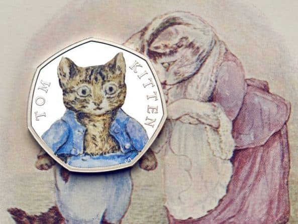 Монетный двор выпустит партию цветных монет, посвященных Беатрис Поттер