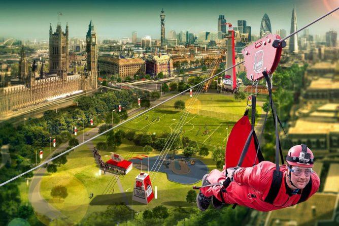 Досуг: В Лондоне появится самый быстрый зиплайн в мире