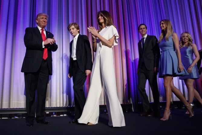 Знаменитости: Мелания Трамп присоединилась к мужу в Белом доме