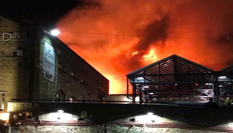 Происшествия: В Лондоне загорелся знаменитый Camden Market