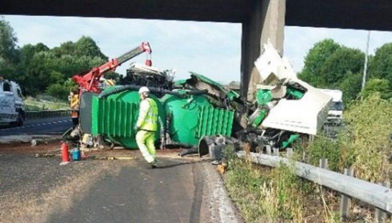 Происшествия: Участок на трассе М5 был закрыт из-за серьезной аварии