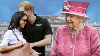 На чай к королеве: возлюбленная принца Гарри посетила Букингемский дворец