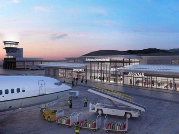 airport, Helena, island