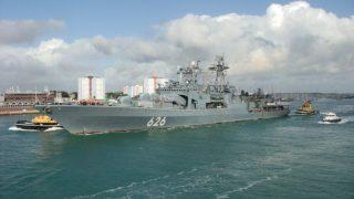 Российский эсминец зафиксирован в шотландских водах