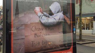 Социальная реклама консерваторов призывает не давать милостыню бездомным