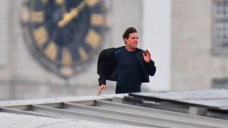 Миссия Невыполнима 6: Том Круз выполняет опасные трюки на мосту Блэкфрайерс