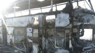 В Казахстане в горящем автобусе погибли 52 человека (видео)