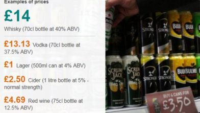 В Шотландии повысят цены на алкоголь