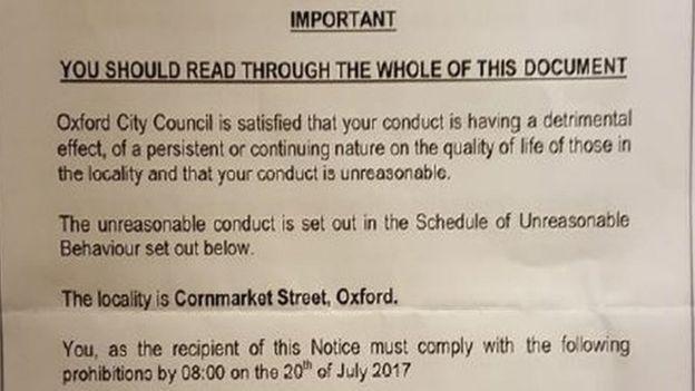 В Оксфорде бездомным грозит штраф до £2,5 тысяч