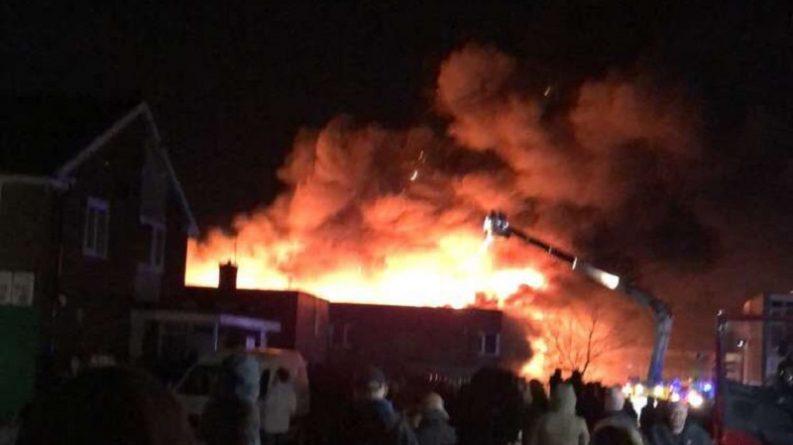 Происшествия: Пожар на территории школы в Тиссайде