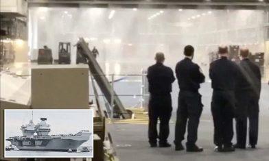 Новый британский авианосец преследуют неприятности