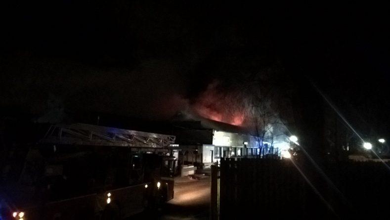 Пожар в промышленной зоне Лондона