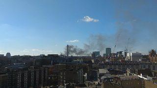 Пожар на Грейт-Портленд-стрит в центре Лондона: на место происшествия прибыли более 50-ти пожарных