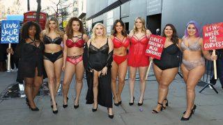 Пышнотелые красотки появились на London Fashion Week, протестуя против худых моделей