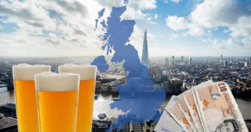Досуг: Где в Великобритании самое дешевое пиво? Конечно, не в Лондоне