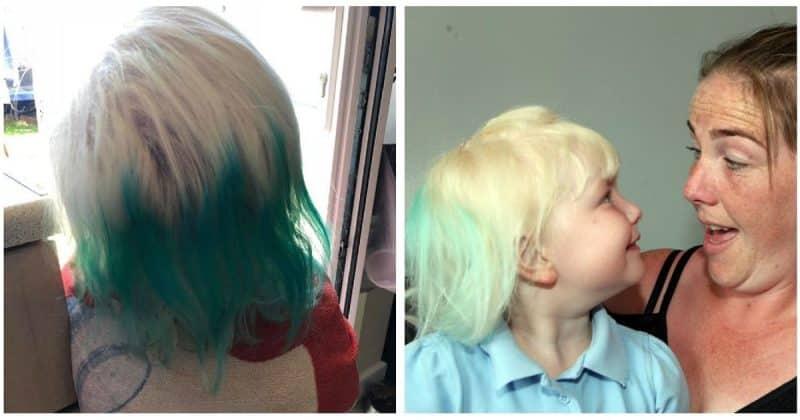 Общество: Резинка от Primark покрасила волосы маленькой девочки в зеленый, пока она плескалась в бассейне