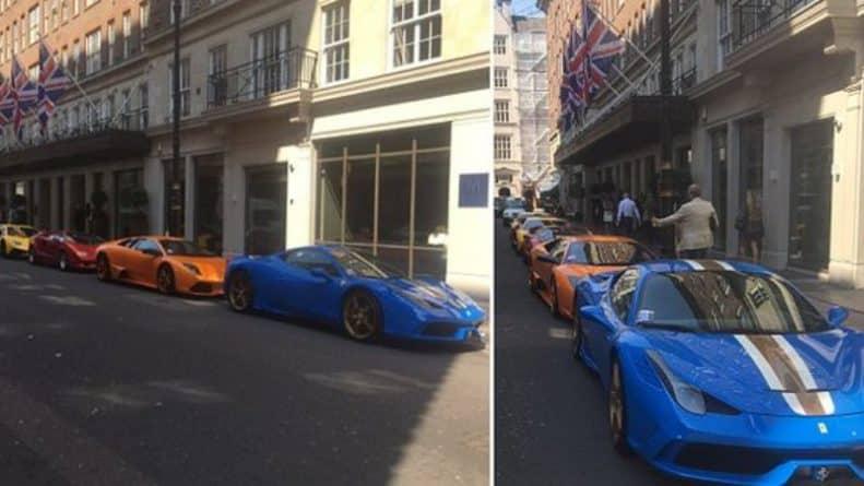 Общество: Ряд роскошных авто был оштрафован на £80 за неправильную парковку, но дети шейхов посчитали это несправедливым