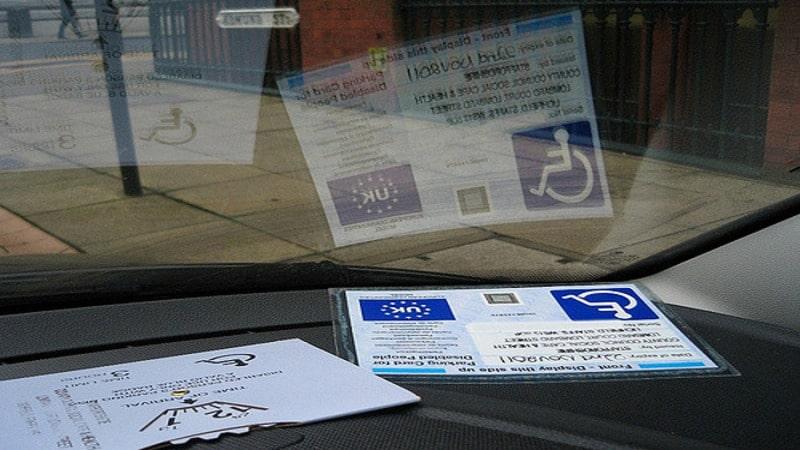 Парковочное удостоверение инвалида
