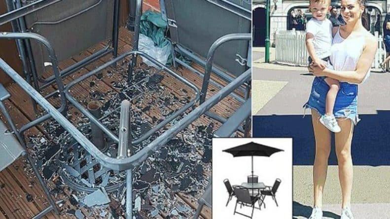 Общество: Стеклянный стол из Asda взорвался от жары в саду, где играл маленький ребенок