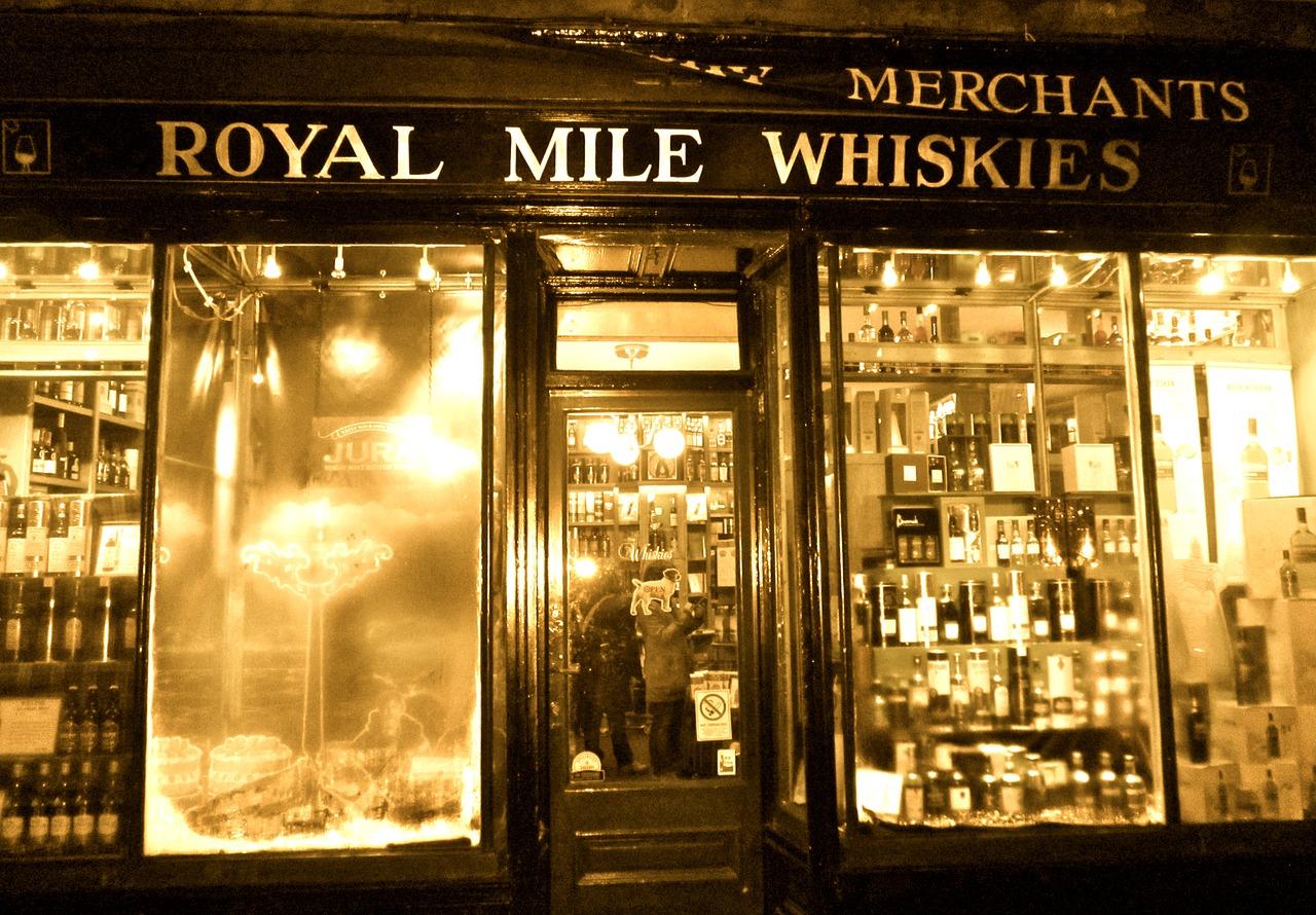 алкогольный магазин в Эдинбурге