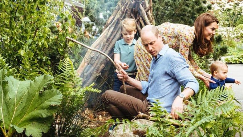 Общество: Принц Гарри и Кейт Миддлтон показали детей в новом саду