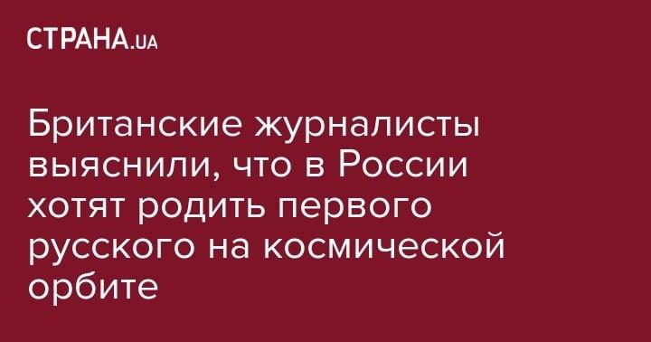 Происшествия: Британские журналисты выяснили, что в России хотят родить первого русского на космической орбите