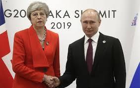 Общество: Путин Тереза Мэй Встреча G20: На G20 в Осаке состоялась встреча Путина и Терезы Мэй - кадры