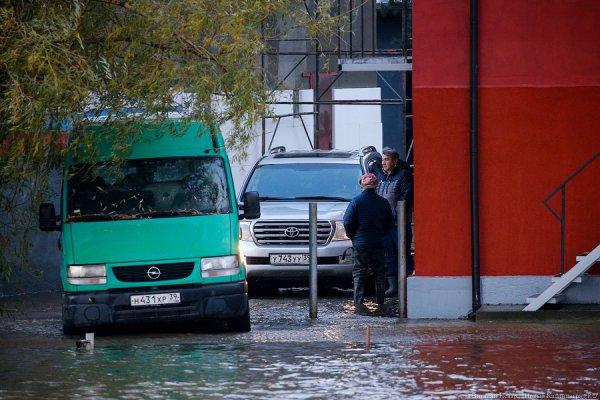 Власти Калининграда о подтоплениях: такой массе воды трудно куда-то мигом исчезнуть