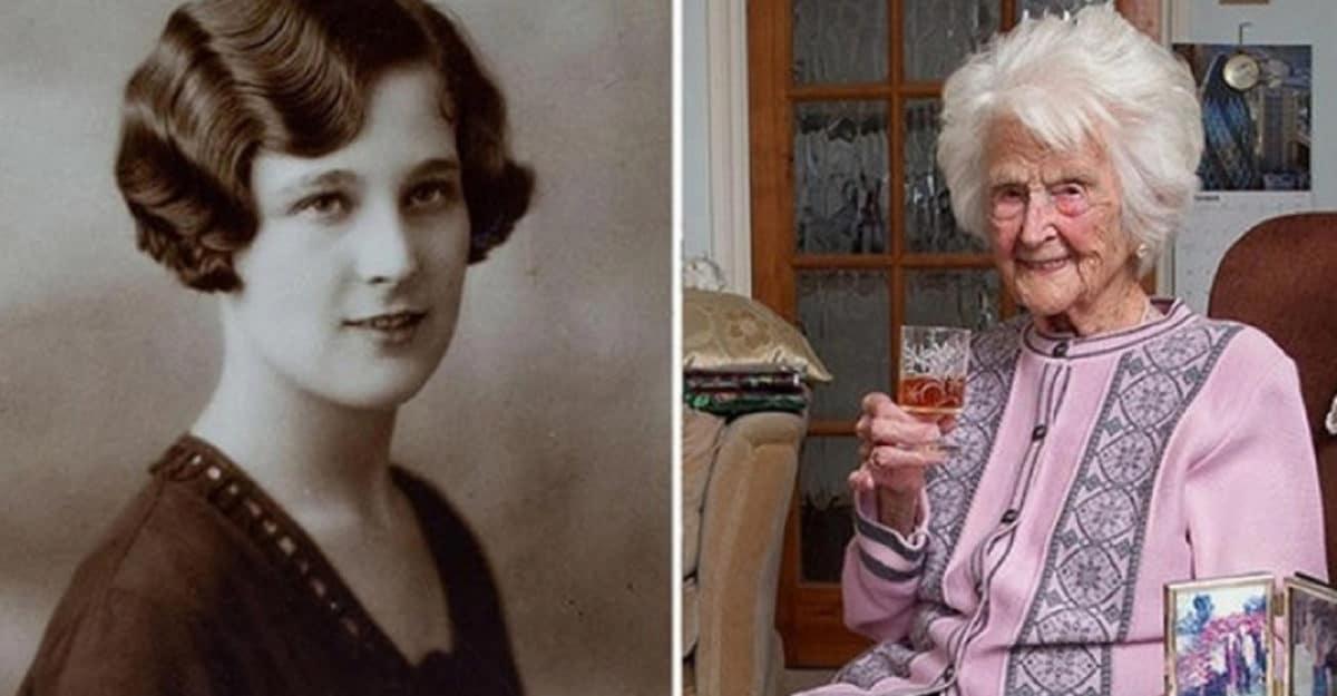 Умерла старейшая жительница Великобритании, выпивавшая виски каждый день