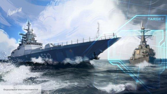 Британцев насмешил новейший корабль Великобритании, сопроводивший корвет России